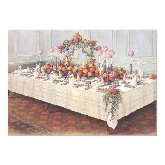 "Vintage Wedding Banquet Table 5"" X 7"" Invitation Card"