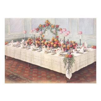 Vintage Wedding Banquet Table Custom Announcement