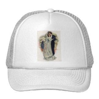 Vintage Wedding Bells Bride And Groom Trucker Hat