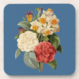 Vintage Wedding Bouquet, Blooming Flowers Coaster