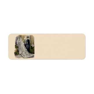 Vintage Wedding Bridal Portrait, Victorian Bride Return Address Label