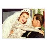 Vintage Wedding Bride Groom Newlywed Save the Date Invites
