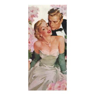 Vintage Wedding Bride Groom Newlyweds Flowers Rack Cards