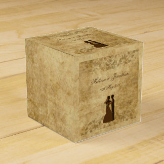 Vintage wedding Bride & Groom Once upon a time Favor Box