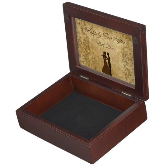 Vintage wedding Bride & Groom Once upon a time Memory Box
