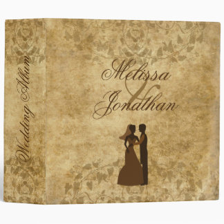 Vintage wedding Bride Groom Wedding album Vinyl Binder