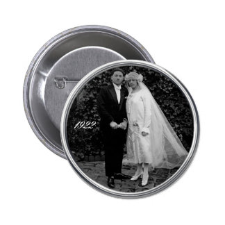 Vintage wedding button