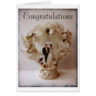 Vintage Wedding Cake Topper greeting card