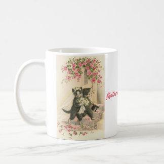 Vintage Wedding Cats - Mother of the Groom, Coffee Mug