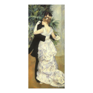 "Vintage Wedding, City Dance by Renoir 4"" X 9.25"" Invitation Card"