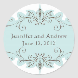 Vintage Wedding Favour Stickers