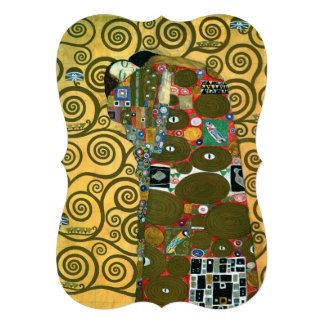 Vintage Wedding Fulfillment The Embrace by Klimt Invitation