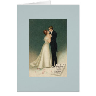 Vintage Wedding Greeting Card