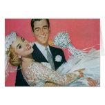 Vintage Wedding, Groom Carrying Bride, Newlyweds Cards