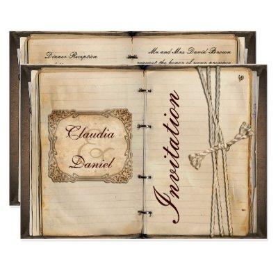 Vintage wedding Invitation cards