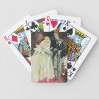 Vintage Wedding Newlyweds, Happy Bride and Goom Bicycle Playing Cards