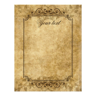 Vintage wedding parchment Once upon a time Letterhead Template