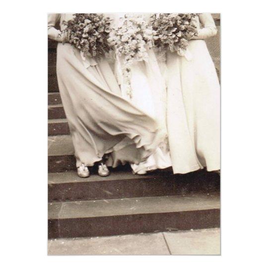 Vintage Wedding Party Card
