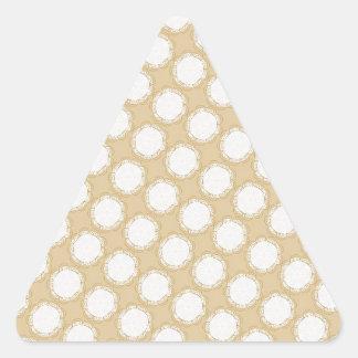 Vintage Wedding Pattern - Customize Triangle Sticker