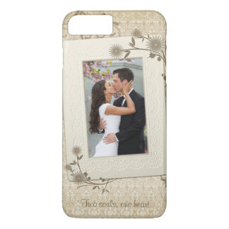 Vintage Wedding Photo Template iPhone 7 Plus Case