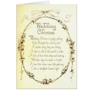 Vintage Wedding Poem Card