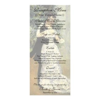 Vintage Wedding Reception Menu, City Dance, Renoir Full Colour Rack Card