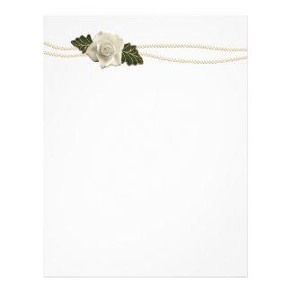 Vintage Wedding Rose Flyer Design