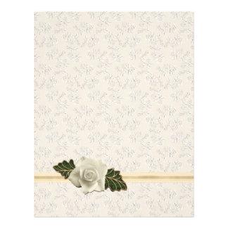 Vintage Wedding Rose Letterhead Design