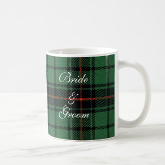 Vintage Wedding, Tartan Davidson Modern Pattern Classic White Coffee Mug