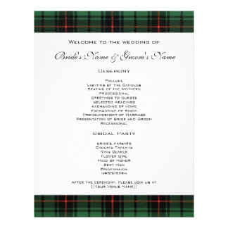 Vintage Wedding, Tartan Davidson Modern Pattern Custom Flyer