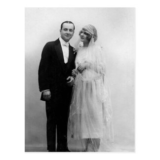 Vintage Wedding The Bride and Groom Postcard