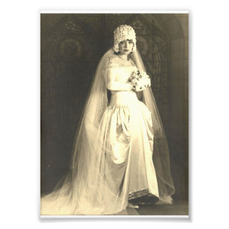 Vintage Wedding The Bride Photo Print