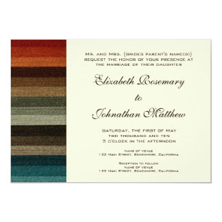 Vintage Wedding, Warm Autumn Stripes Pattern Card