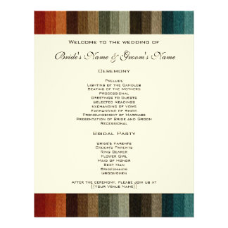 Vintage Wedding, Warm Autumn Stripes Pattern Flyer
