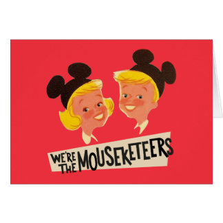 Vintage We're The Mouseketeers Card