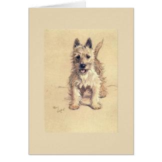 Vintage West Highland White Terrier, Card