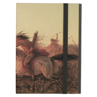 Vintage West, Indian Buffalo Hunt by Charles Wimar Case For iPad Air