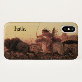 Vintage West, Indian Buffalo Hunt by Charles Wimar iPhone X Case