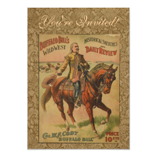 Vintage Western Buffalo Bill Wild West Show Poster Card