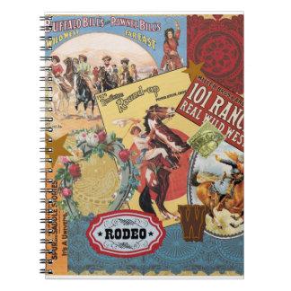 vintage western collage notebook