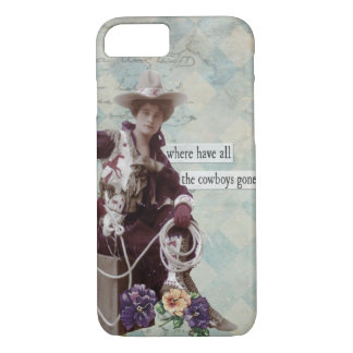 Vintage Western Cowgirl iPhone 7 case