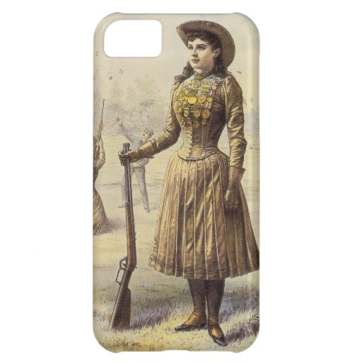 Vintage Western Cowgirl Miss Annie Oakley Case For iPhone 5C