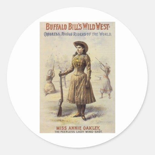 Vintage Western Cowgirl Miss Annie Oakley Sticker
