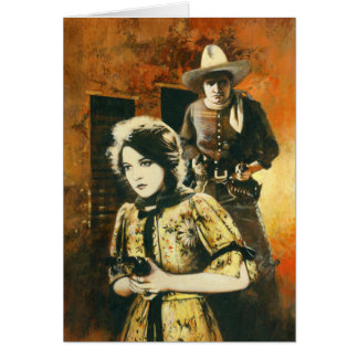 Vintage Western Movie Greetings Card