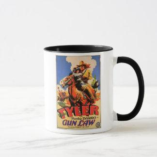 Vintage Western Movie Poster Mug 'Gun Law'
