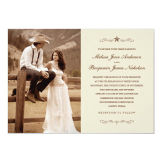 Western Themed Wedding Invitations & Announcements | Zazzle CA