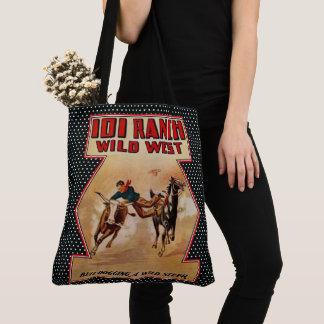 Vintage Western Rodeo 101 Ranch Cowboy Steer Tote Bag