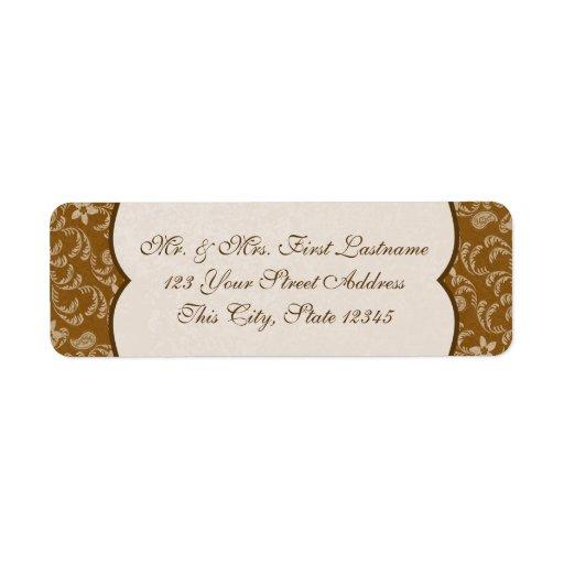 Vintage Western Style Paisley Return Address Label