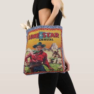 Vintage Western Texas Lone Star Cowboy Print Bag