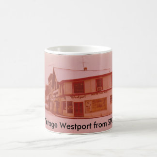 Vintage Westport Luggage Tag - Railroad Place Coffee Mug